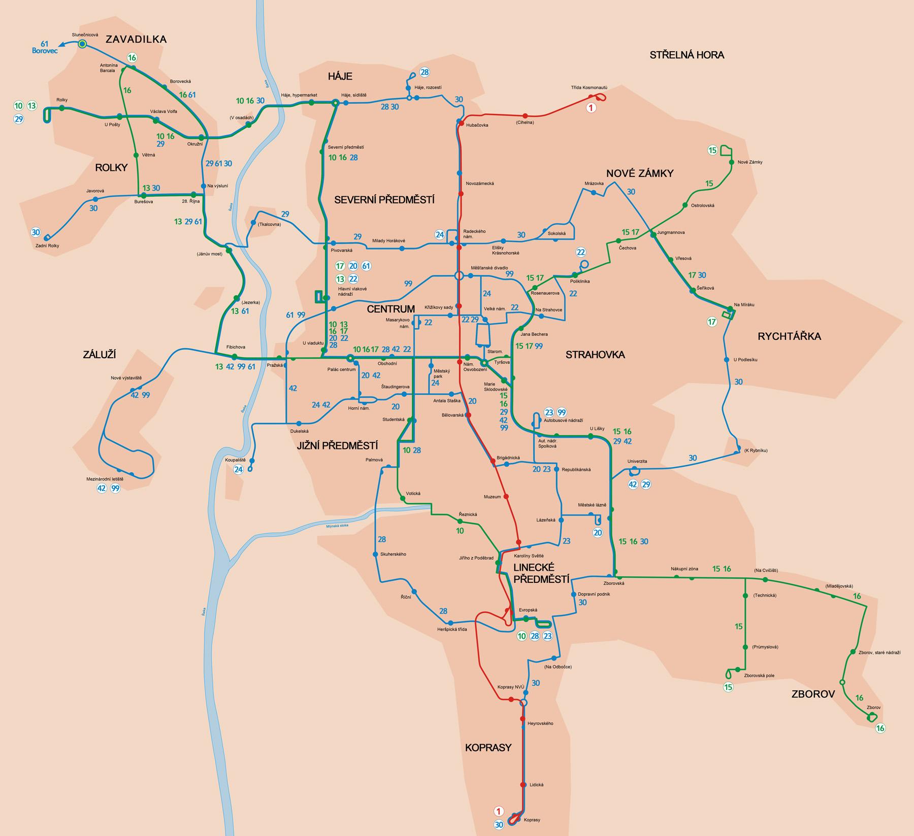 Mapa linek